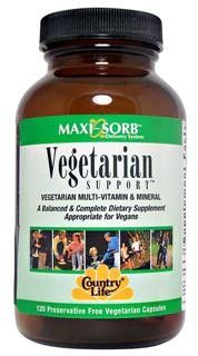 Vegetarian Support Multi-Vitamin (120 vcaps) Country Life