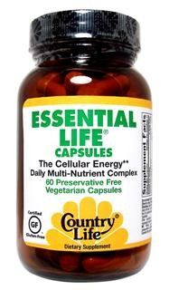 Essential Life Capsules (120 vcaps) Country Life