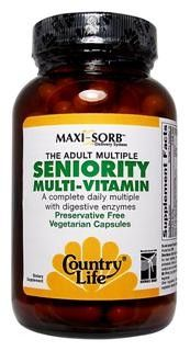 Seniority Multi Vitamin (120 vcaps) Country Life