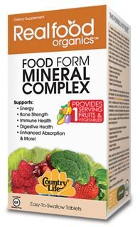 Food Form Mineral Complex (60 tablets) RealFood Organic by Country Life
