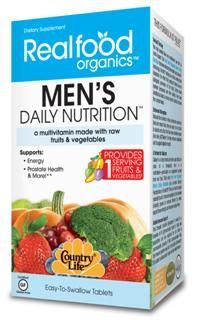His Daily Nutrition (120 tablets) RealFood Organic by Country Life