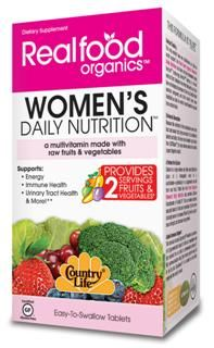 Women's Daily Nutrition (120 tablet) RealFood Organic by Country Life