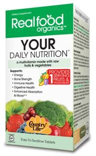 Your Daily Nutrition, One-a-Day Multi (30 Tablet) RealFood Organic by Country Life