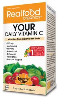 Your Daily Vitamin C (60 tablets) RealFood Organic by Country Life
