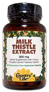Milk Thistle Extract (200 mg 60 vcaps) Country Life