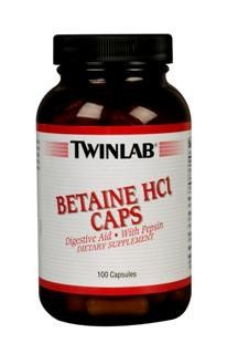 Betaine Hcl (100 capsules) TwinLab