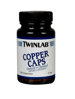 Chelated Copper (100 capsules) TwinLab