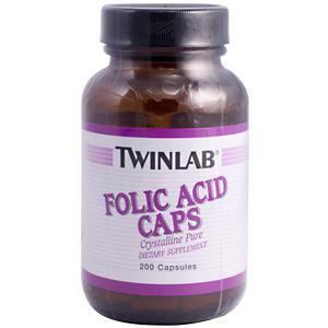 Folic Acid (800 mcg 200 capsules) TwinLab