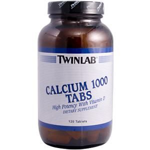 Calcium 1000 Tabs with Vitamin D (120 tablets) TwinLab