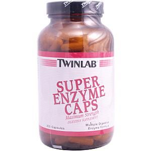 Super Enzyme (200 capsules) TwinLab