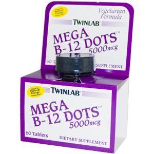 B-12 Mega Dots (5000 mcg 60 caps)* TwinLab