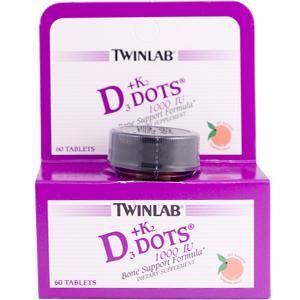 D3 & K2 Dots 1000 IU (60 tabs) TwinLab