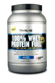 100% Whey Protein Fuel - Strawberry (2 lb) TwinLab