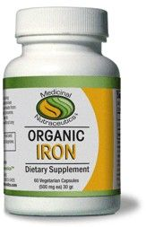 Organic Iron (60 vcaps) Medicinal Nutraceutics