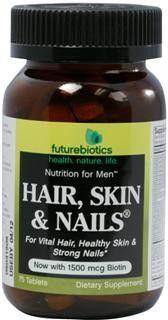 Hair Skin Nails for Men (75 tabs) Futurebiotics