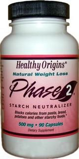 Phase 2 Starch Neutralizer (500mg 90 caps) Healthy Origins