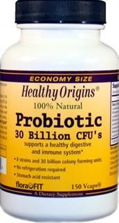 Probiotic - 8 Strains - 30 Billion CFU's (150 vcaps) Healthy Origins