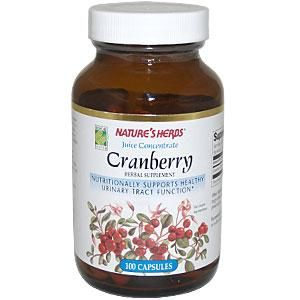 Cranberry Capsules from Juice Concentrate (100 Caps) Nature's Herbs