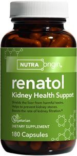 Renatol | Kidney Health (180 caps)* NutraOrigin