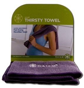 Small Thirsty Towel | Microfiber               Gaiam Yoga