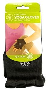 Super Grippy Yoga Gloves | One Size Gaiam Yoga