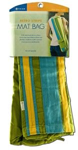 Retro Stripe Yoga Mat Bag -  (Fern- Blue- Yellow) Gaiam Yoga