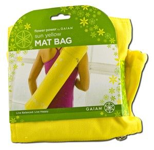 Sun Yellow Yoga Mat Bag Gaiam Yoga