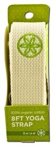 Organic Cotton Yoga Strap (Natural - 8 ft.) Gaiam Yoga
