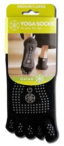 All Grip-No Slip Yoga Socks (Med-Lg) Gaiam Yoga