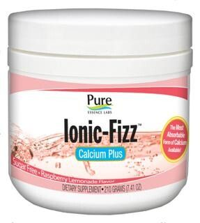 Ionic-Fizz Calcium Plus Raspberry Lemonade(210 gm)* Pure Essence Labs