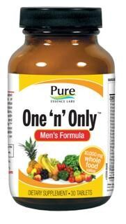 One-n-Only Mens Formula (30 tabs)* Pure Essence Labs