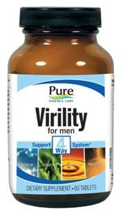 Virility (Male) - 4 Way Support System (60 tabs)* Pure Essence Labs