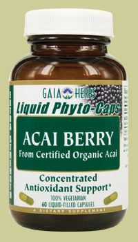 Acai Berry (60 caps)* GAIA Herbs