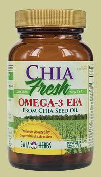 Omega-3 EFA from Chia Seed Oil (90 caps)|Chia Fresh GAIA Herbs