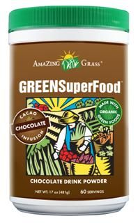 Chocolate Green SuperFood Powder (17 oz) Amazing Grass