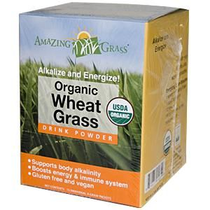 Organic Wheat Grass Drink Powder (15 packets) Amazing Grass