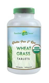 Organic Wheat Grass Tablets (200 tabs 1000 mg) Amazing Grass