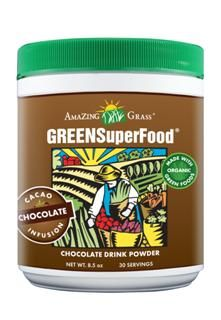 Chocolate Green SuperFood Powder (8.5 oz) Amazing Grass