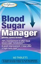 Blood Sugar Manager (60 tablets) Enzymatic Therapy