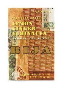 Bija Lemon-Ginger-Echinacea (20 teabags) Flora Health, Bija