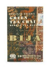 Bija Green Tea Chai (20 teabags) Flora Health, Bija