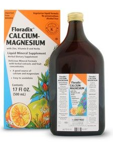 Floradix Calcium - Magnesium (17 oz) Flora Health, Floradix