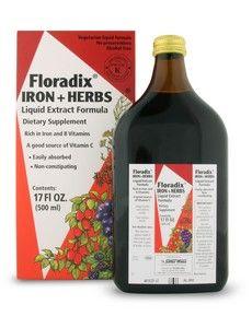 Floradix Iron & Herbs (17 oz) Flora Health, Floradix