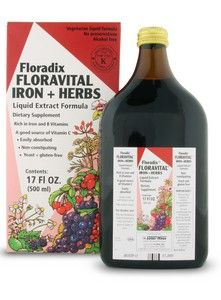 Floravital Iron & Herb yeast free (17 oz) Flora Health, Floradix