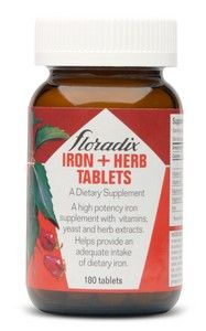 Iron & Herbs (180 tablets) Flora Health, Floradix