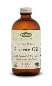 Sesame Oil, certified organic (8.5 oz) Flora