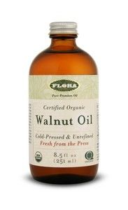 Walnut Oil, certified organic (8.5 oz) Flora