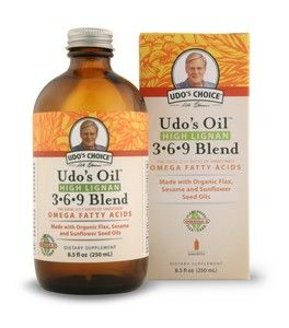 Udos Oil High Lignan 3-6-9 Blend (8.5 oz) Flora Health, Udo's Choice