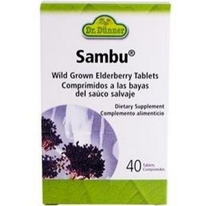 Sambu Elderberry Tablets (40 Tabs) Flora Health, Dr. Dunner