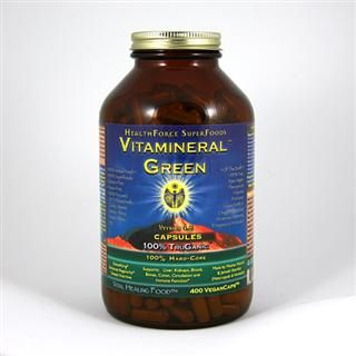 Vitamineral GREEN Capsules Version 5.3(400 v-caps)* HealthForce Nutritionals